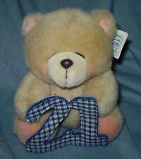 "HALLMARK FOREVER FRIENDS  TEDDY BEAR  HOLDING ""21"" WITH TAG   (#B74-36)"