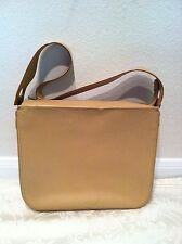 Salvatore Ferragamo Italy Authentic Tan Leather Box Shape Shoulder Handbag