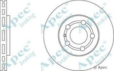 1x OE Quality Replacement Front Axle Apec Vented Brake Disc 5 Stud 256mm Single
