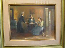"ISRAELI ART - DVIR -  The Letter -  Oil On Canvas - 18"" x 14"" - Judaica"