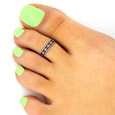 design adjustable toe ring (T-128) Sterling silver 925 toe ring wheel