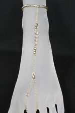 Women Fashion Metal Toe Ring Anklet Gold Silver Mini Flowers Foot Chains Slave