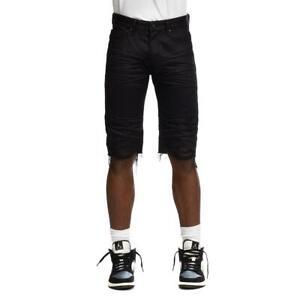 Smoke Rise Mens Denim Shorts with Rip and Repair