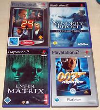 4 PLAYSTATION 2 giochi Enter the Matrix Minority Report 24 GAME 007 Nightfire