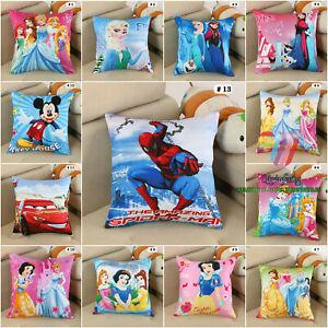 Disney Princess Cushion Cover Sofa Decor 100% Cotton Children's Gift