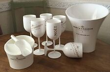 ICE IMPERIAL MOET CHANDON CUBE HOLDER & SCOOP + 6 FLUTES ICE BUCKET &  CUSHION