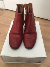 Isabel Marant SZ 39/US 8 Red Leather Dicker Ankle Boots Booties