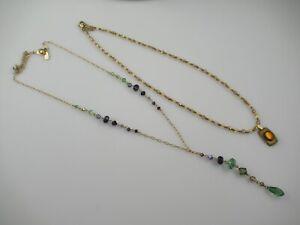 2 Signed Holly Yashi Crystal Necklaces