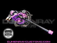 DHC STR8 TONE ARM Assembly Technic 1200 black & purple 24kt gld rcas int ground