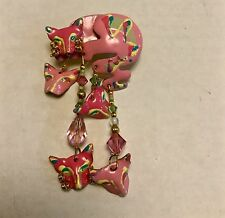 "VINTAGE LUNCH AT THE RITZ PIN, BROACH, EARRING ""PINK KATZ""  SIGNED-DATED 1986"