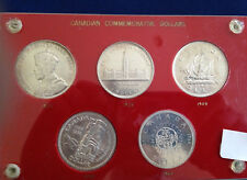 1935-1964 Canada Silver Dollar Commemorative 5 Coin Collection in Capital E4631