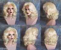 Light Blonde Lots of Volume Medium Length Drag Queen? Womens Wig