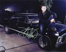 """** * SUPERNATURAL * ** JENSEN ACKLES """" Dean & His Car :) """" Autographed 8x10 RP"""