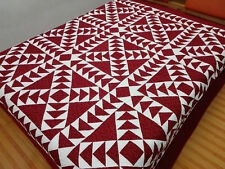 Queen  size machine pieced and quilted Patchwork quilt / #NJ-77-9-7A-4a