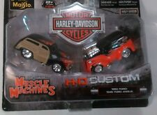 Muscle Machines Harley Davidson Die Cast 1950 Ford 1948 Anglia 1:64