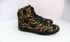 Lacoste Married To The Mob Hiromi Gold Lace Women's Sneakers SZ 6.5 US