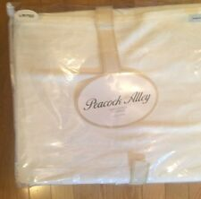 Peacock Alley KING 100% Cotton CLEMENTINE SCROLL  Coverlet WHITE Brand New  $395