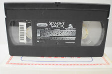 Straight Talk VHS Movie