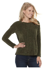 SONOMA Women's Goods For Life Chenille Crewneck Sweater Green Size XXL NWT $44