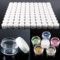 5G/5ML Refillable Clear Plastic Cosmetic Container Jars With Clear Screw Cap Lid