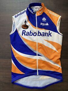 Rabobank Gillet Vest Rider Issued AGU Medium Thermal Pockets Dutch Tour de Franc