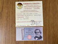 BANCONOTA LIRE 1000 VERDI 2º TIPO 25 3 1969 NON TRATTATA certificata SPL+