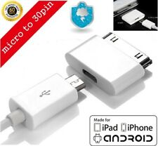 Micro USB Female to 30pin Male Charger Adapter For iPad/iPod/iPhone 4 S