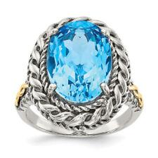 Anelli di lusso di argento argento topazio