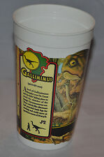 Mint!! Vintage 1993 Jurassic Park Plastic Cup (Gallimimus) McDonalds Coca Cola