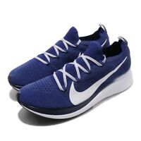 Nike Zoom Fly FK Flyknit Deep Royal White Blue Void Men Running Shoes AR4561-400
