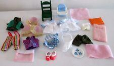 Sylvanian Families nurse calico Baby Bundle bed Figures clothes dress boys CLEAN