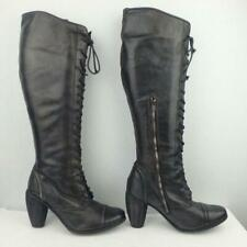 AllSaints Leather Boots Size Uk 5 Eur 38 Womens Sexy Shoes Lace up Black Boots
