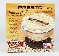 New Presto PowerPop Hot Microwave Healthy Popcorn Multi Popper Maker 04830 - New