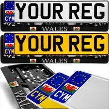 CYM WALES DRAGON Badge Standard Pressed Number Plates Metal Car REG Road Legal