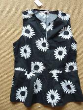 Cotton Blend Peplum Regular Floral Tops & Blouses for Women