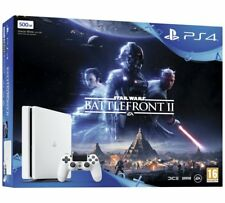 PS4 PLAYSTATION 4 500GB SLIM GLACIER WHITE CONSOLE WITH STAR WARS BATTLEFRONT 2