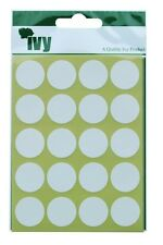 280 Sticky White 19mm Labels Dots Round Circles Self Adhesive Stickers by Ivy