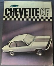 1976 Chevrolet Chevette GP Brochure Sheet Brazil Market Portuguese Text Original