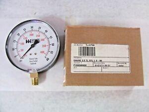 """WeissTL35-060-4L - 4"""" Diameter, 0-60psi, 1/4"""" NPT Industrial Gauge"""