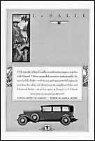 1930 La Salle Cadillac motor car company fleetwood vintage art print ad ads48