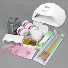 Nail Art Care Starter Kit + 54W LED UV Nail Lamp Acrylic Powder Liquid Brush SET