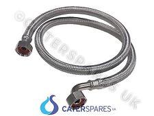 """1/2"""" BSP flessibile acciaio inossidabile intrecciato tubo dell'acqua di alimentazione lungo 1 METRI 1000 mm"""