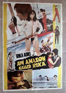 """AN AMAZON CALLED RIKA Lebanese/English 26""""x37.5"""" movie poster Rika Aoki 1973"""