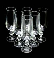 Vintage Bohemia Crystal Claudia set of 6 champagne flutes in box
