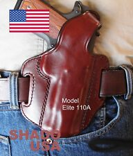 "Colt Commander 4"" Leather Holster Elite110A SHADO USA RH Brown Kimber Pro Others"