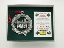 Boston Strong Silver Ornament. Memorial Ornament, Never Forget.