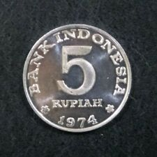 1974 Coin Indonesia FAO - Family Planning Program Indonesia 5 rupiah, 1974