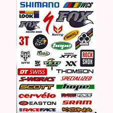 26 x Outdoor Bicycle Cycling Mountain Bike Skateboard Decal Stickers *1 Sheet UK