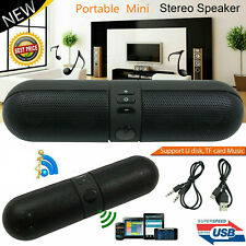 Wireless Portable Bluetooth Speaker Rechargeable Extra Bass USB/AUX/TF/FM Radio