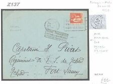 Z137 1934 FRANCE Rennes FFC Air Afrique *3rd Trial Flight* Cover TCHAD Fort Lamy